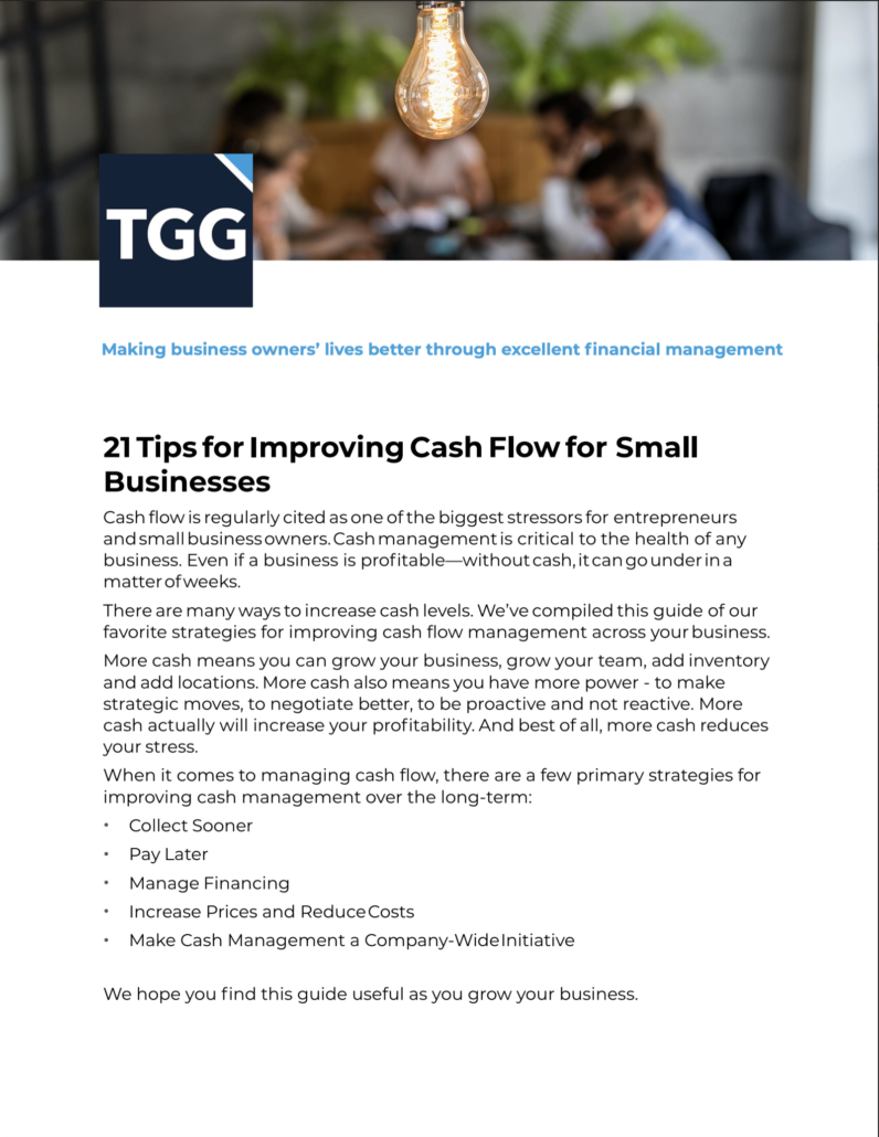 21 Tips to Increase Cash Flow
