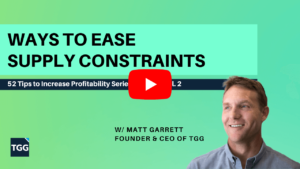 ways to ease supply constraints