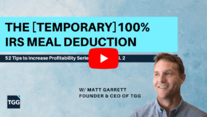 IRS Meal Deduction